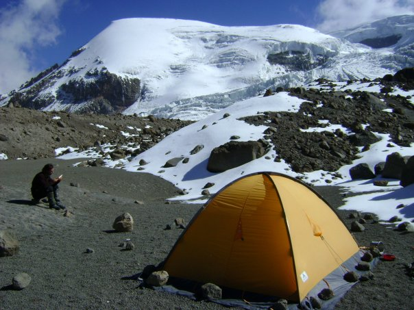 coropuna mountain base camp
